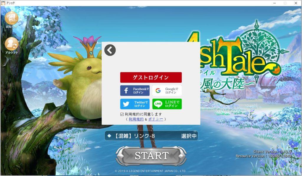 Ash TaleのWindowsPC版を起動