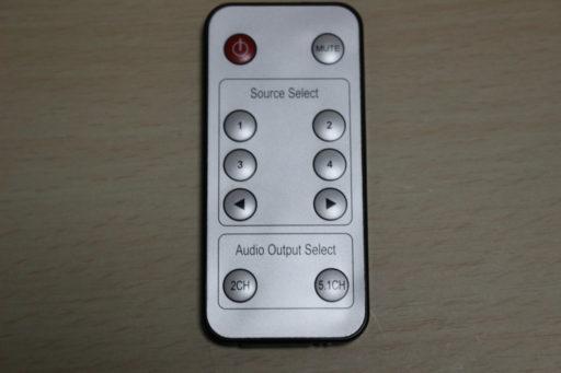 HDMIセレクター「400-SW015」のリモコン