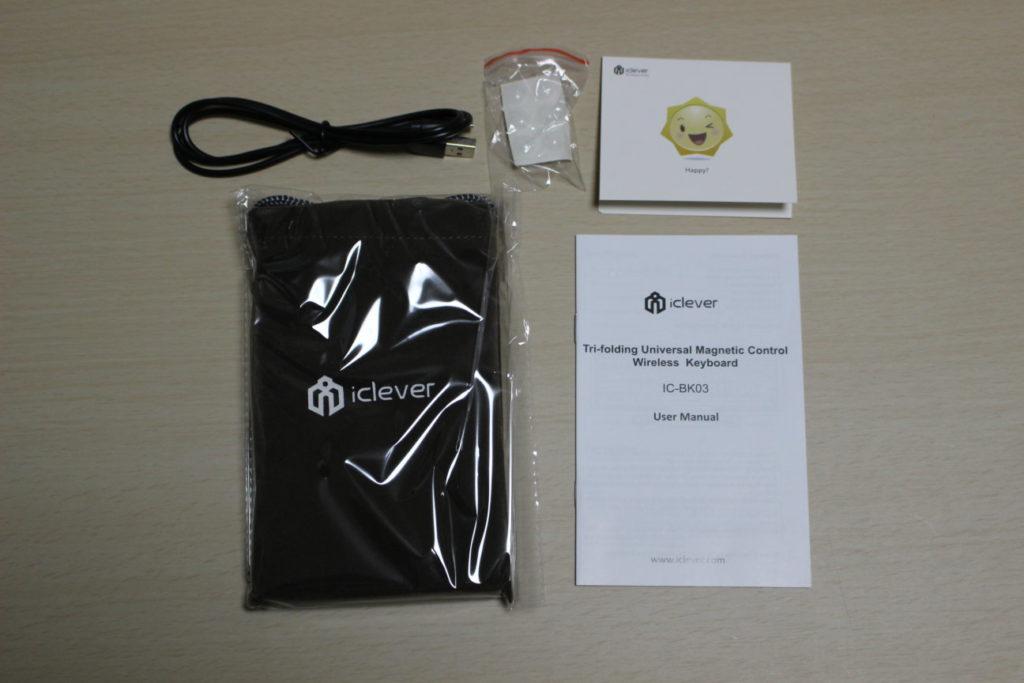 iCleverのIC-BK03(Bluetoothキーボード)の開封
