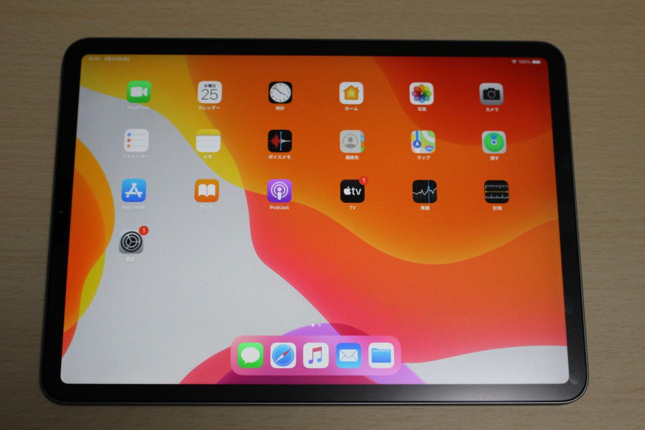 iPad Pro (2020)の本体前面