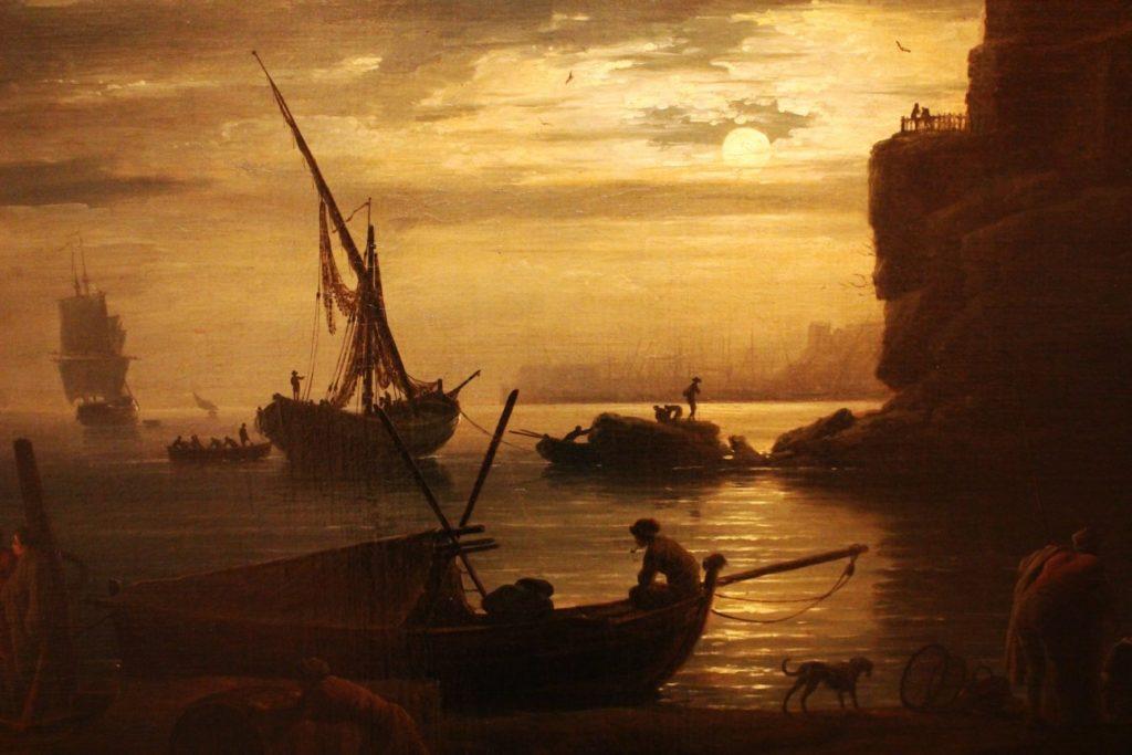 海と船(イラスト)