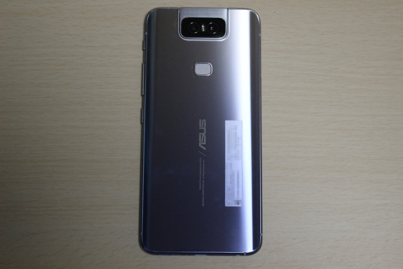 ZenFone6の本体背面