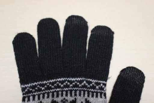 スマートフォン対応手袋の指先