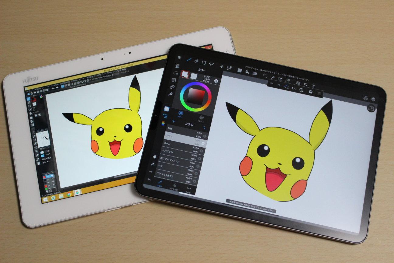 iPad Pro (2020)とARROWS Tab Q584/H