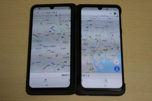 LGG8XThinQのワイドモードのマップ