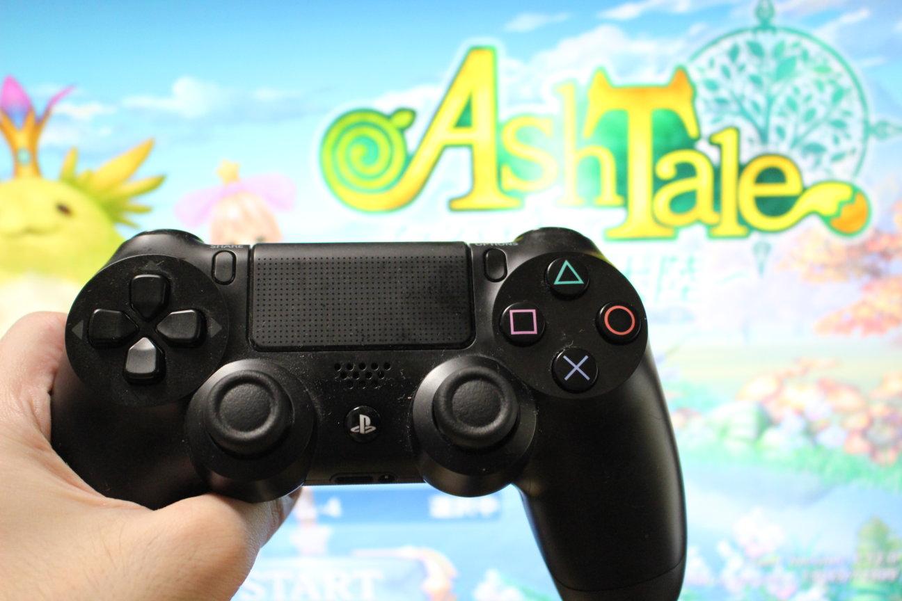 PS4コントローラーとAshTale(アッシュテイル)
