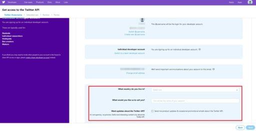 TwitterAPIの申請方法4