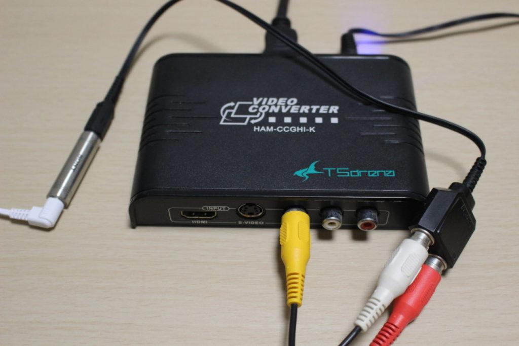 HDMI変換コンバーターから外部スピーカーへ