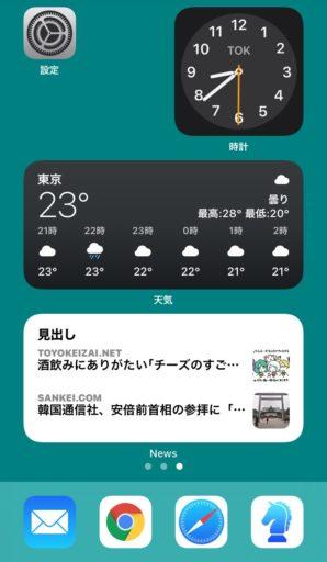 iOS14のウィジェット