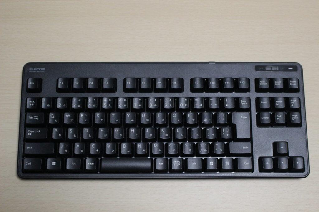 エレコムワイヤレスキーボード「TK-FDM105TXBK」