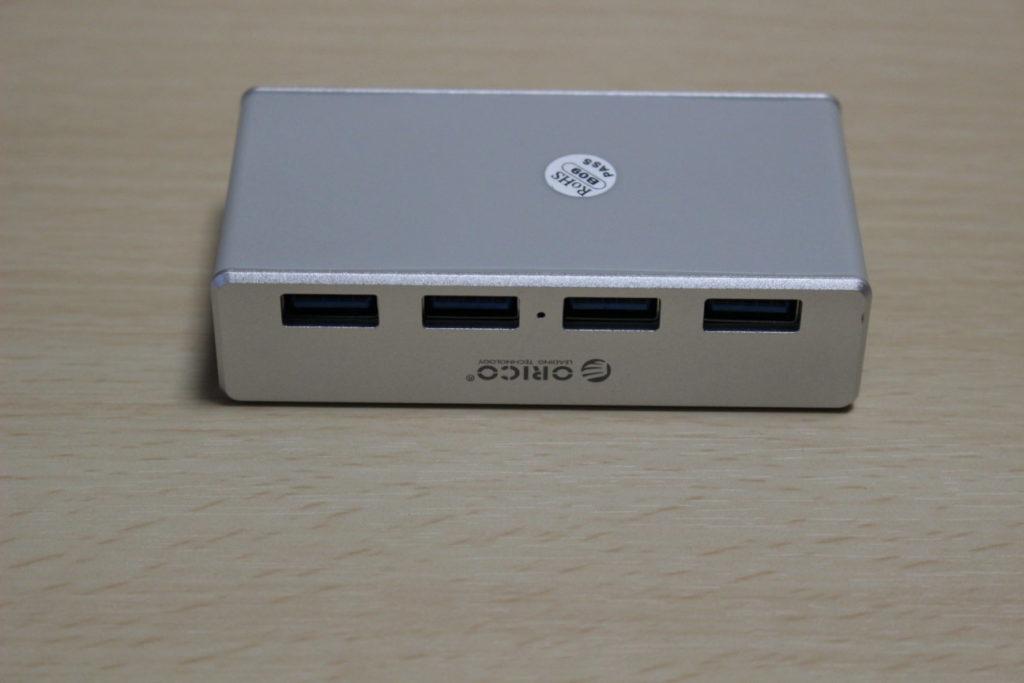 USBハブ「ORICO 4PORTS CLIP HUB」