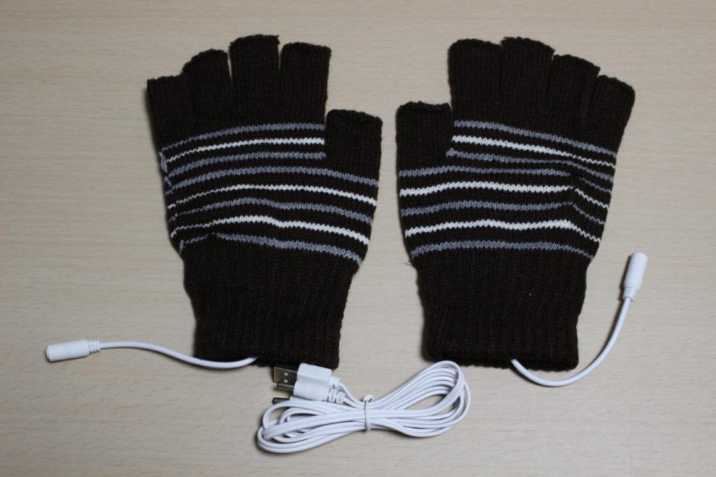 USBヒーター付き指なし手袋