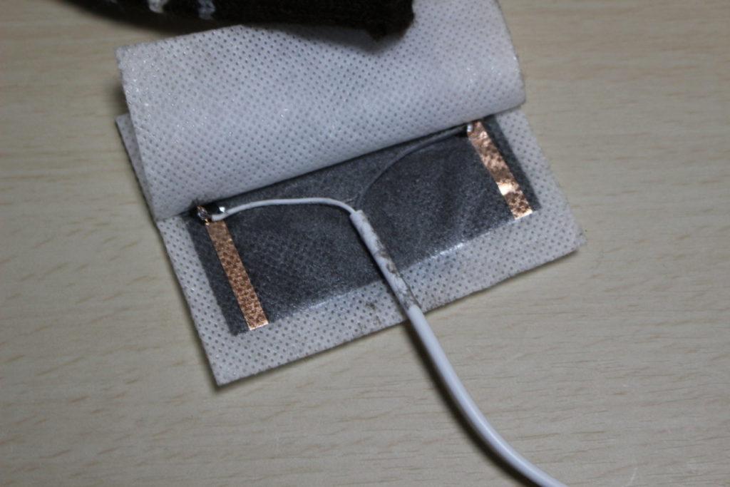 USBヒーター付き指なし手袋のUSBヒーター断線