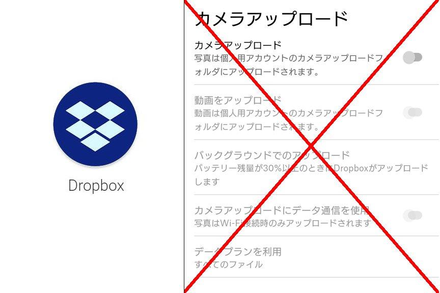 Dropboxのカメラアップロードを使わない