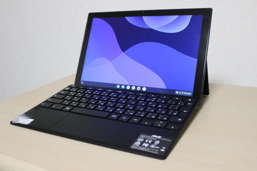 「Chromebook Detachable CM3」パソコンモード