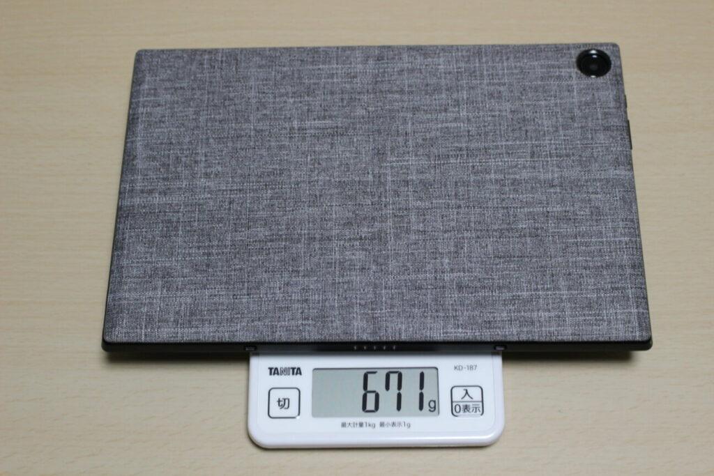 「Chromebook Detachable CM3」本体+スタンドの重さ
