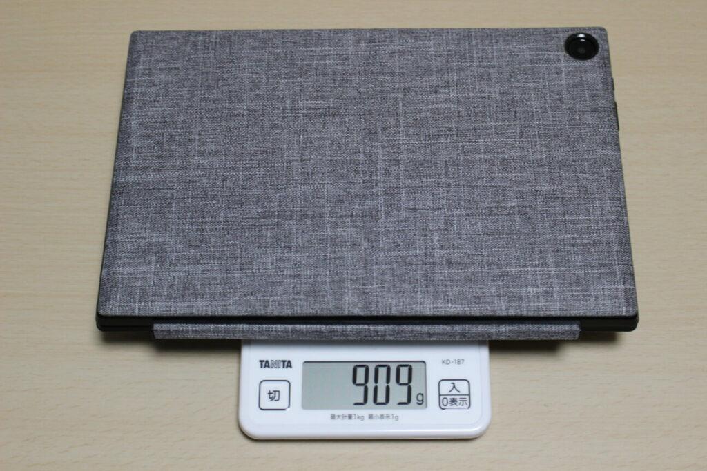 「Chromebook Detachable CM3」本体+スタンド+キーボードの重さ