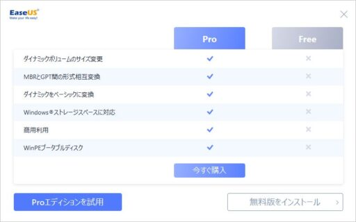 「EaseUS Partition Master Free」のインストール(4)