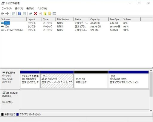 「EaseUS Partition Master Free」の使い方ー移動(8)ー