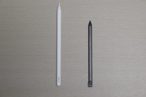 「Apple Pencil(第2世代)」と「ASUS USI Pen」