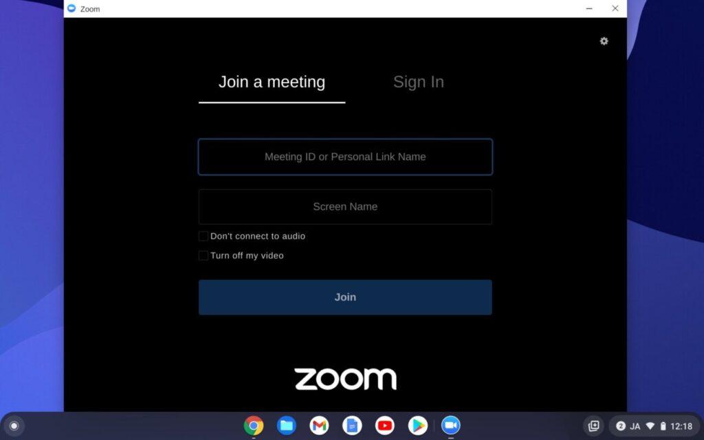 「Chromebook」で「Zoom」を使う方法(5)