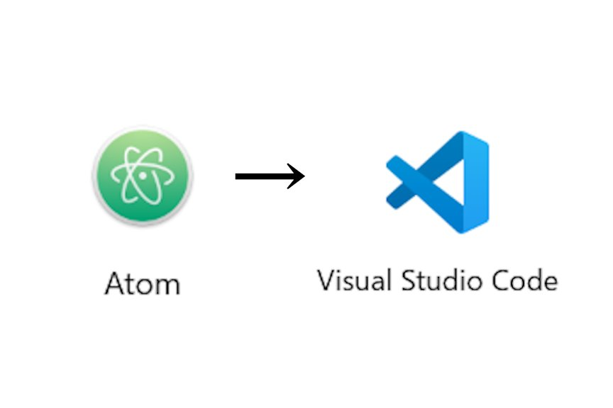 「Atom」から「VSCode」
