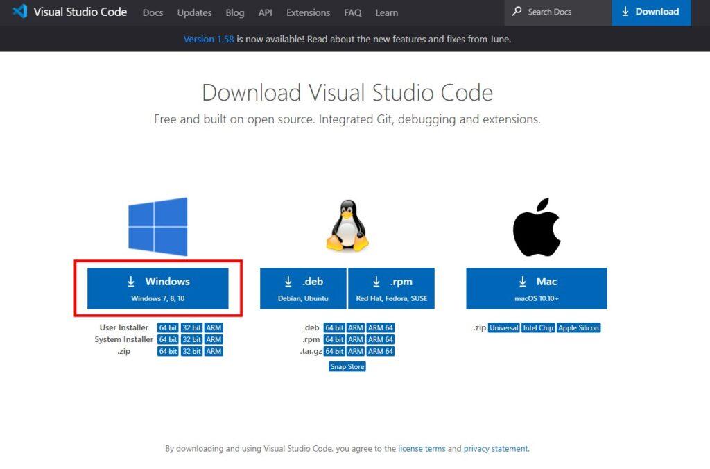 「VSCode」のダウンロード(2)