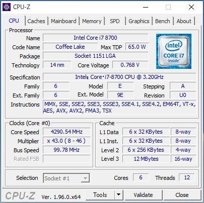 「CPU-Z」起動