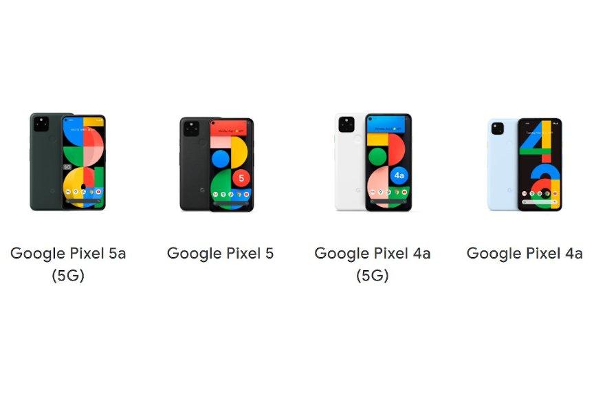 Pixel 4a・4a(5G)・5・5a(5G)