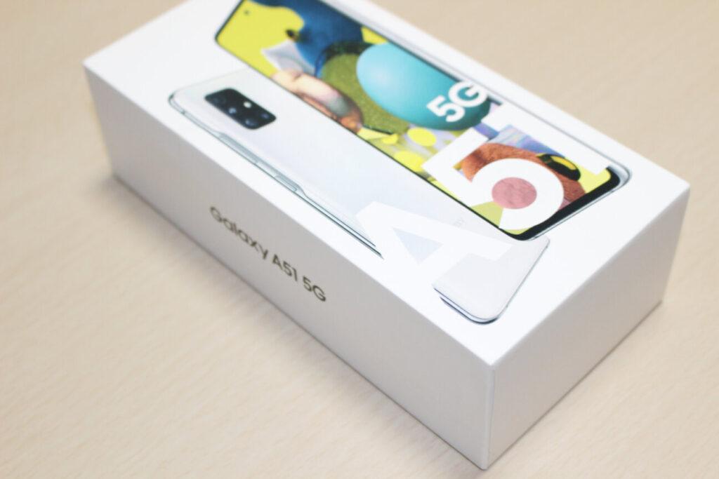 「Galaxy A51 5G」の箱