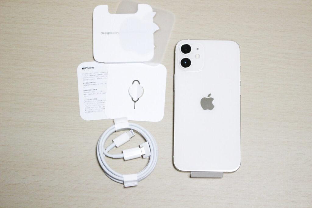 「iPhone12mini」の内容物