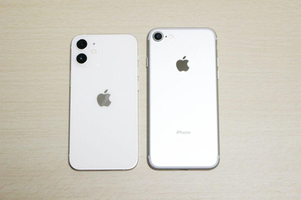 「iPhone12mini」と「iPhone7」