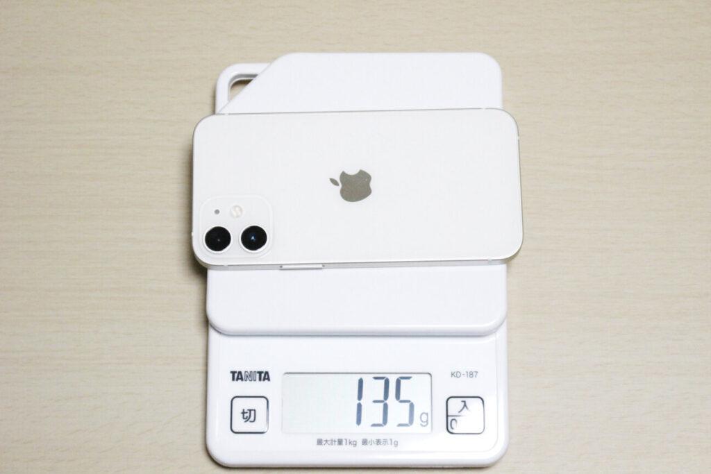 「iPhone12mini」の重さ