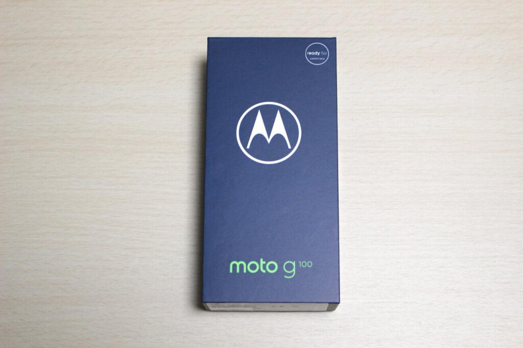 「moto g100」の箱